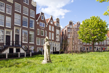 Netherlands, Amsterdam, Begijnhof courtyard Stock Photo
