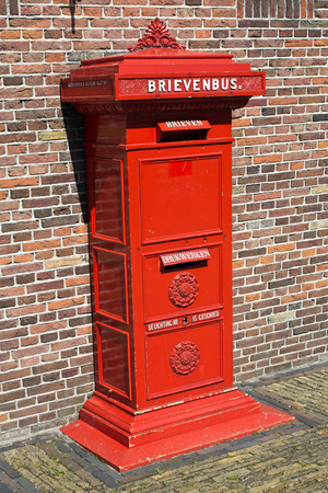 zaanse: Netherlands, Zaanse Schans, post box