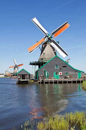 zaandam: Netherlands, Zaanse Schans, windmill