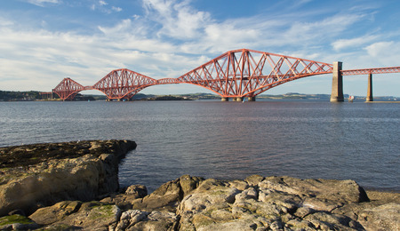 Schotland, South Queensferry, Forth Railway Bridge Stockfoto