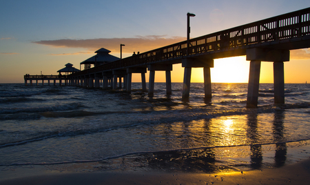 USA, Sunset at Fort Myers Beach