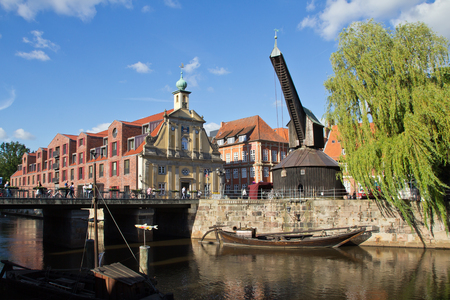 Germany, Lueneburg, Old Harbor, Old Crane