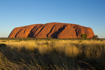 Australia, Northern Territory, Ayers Rock, Uluru in the evening light