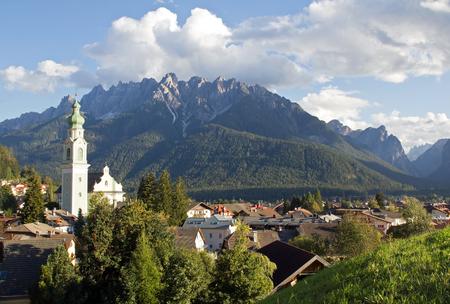 Village Dobbiaco, Dolomites in South Tyrol, Italy, Europe
