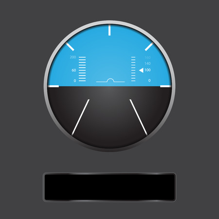 altimeter: Airplane altitude display Illustration