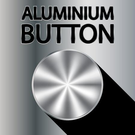 Aluminium button Illustration