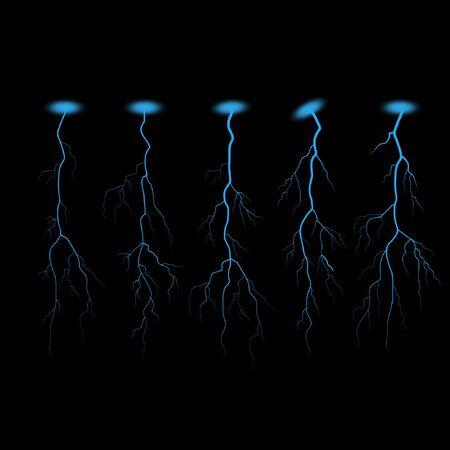 forked: Blue lightning vector