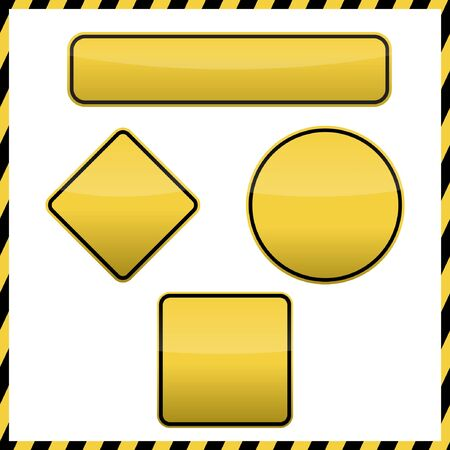 roadsigns: Roadsigns blank Set Illustration