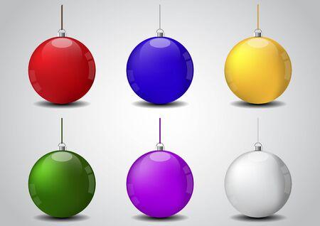 Set of christmasball vector illustration