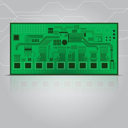 capacitor: Circuit board vector illustration