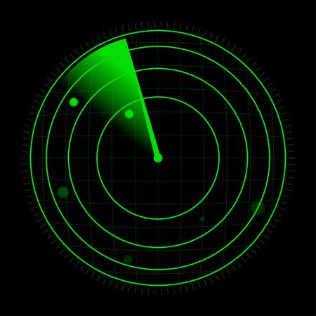 Radar illustration vectorielle Vecteurs