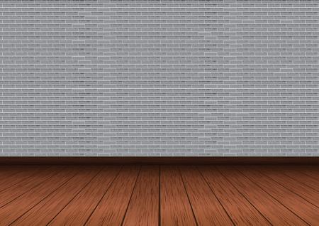 Gray brick wall vector illustration Ilustração