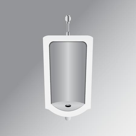 urination: White urinal vector illustration