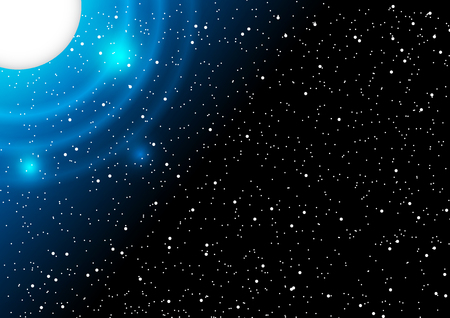 Space and star vector background Illustration