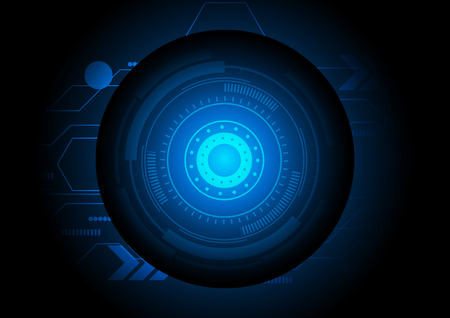technology abstract background: Abstract circle technology background