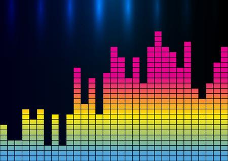analyzer: Colorful sound wave vector illustration
