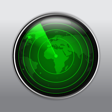 Green radar vector illustration Elements of this image furnished by NASA