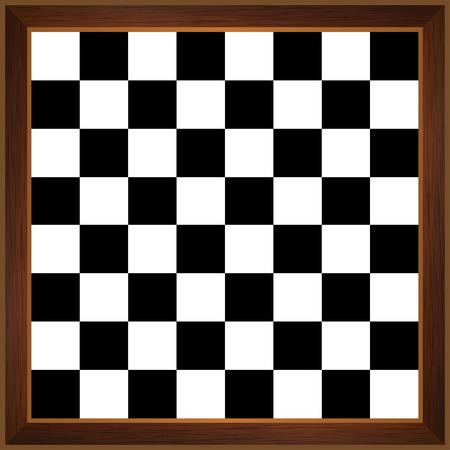tablero de ajedrez: tablero de ajedrez de madera Vectores