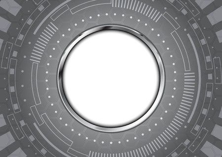 aluminium background: Abstract technology circle aluminium background
