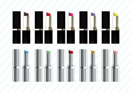 Set of lipsticks Vector illustration.