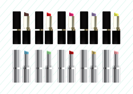 Set of lipsticks Vector illustration.