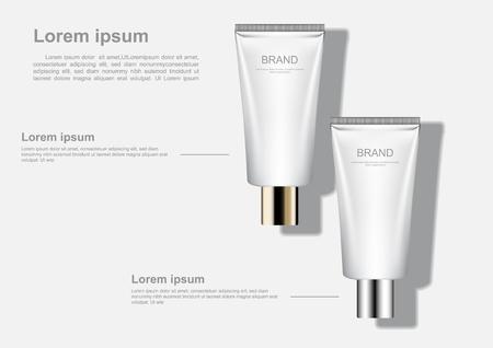 Cosmetic ads poster template vector illustration Иллюстрация