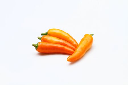 Chilli peppers isolated on white Stock Photo