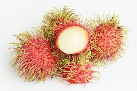 Rambutan With A Peeled Fruit  photo