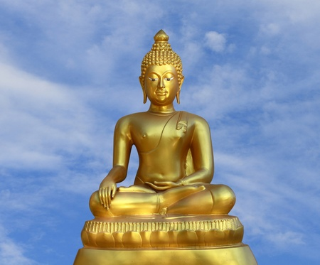A statue of of golden buddha in Thailand