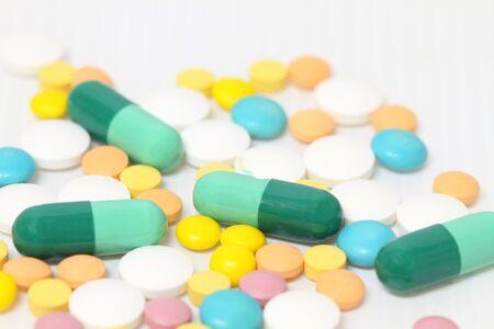 Pharmaceutical Drugs on White.