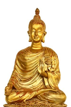 A statue of golden buddha Stock Photo