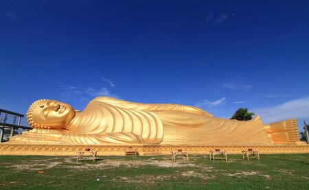 Reclining Buddha Statue, Southern of Thailand photo