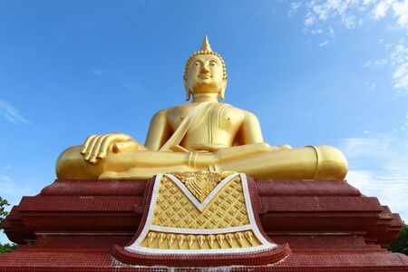 Huge Buddha image and blue sky, taken in south of Thailand Stock Photo - 10255049