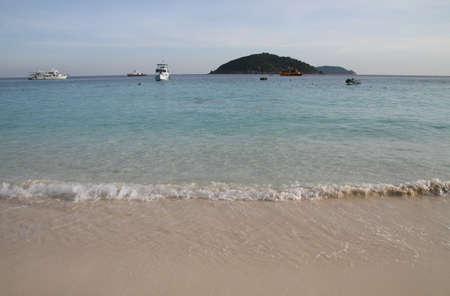 Beautiful blue sea  Stock Photo