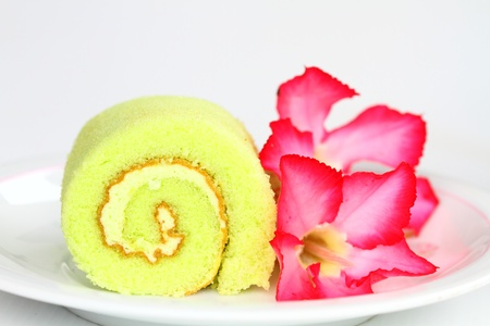 roll cake  photo