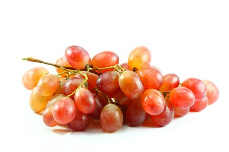 red grapes isolated on white Stock Photo