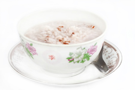 rice soup in a bowl