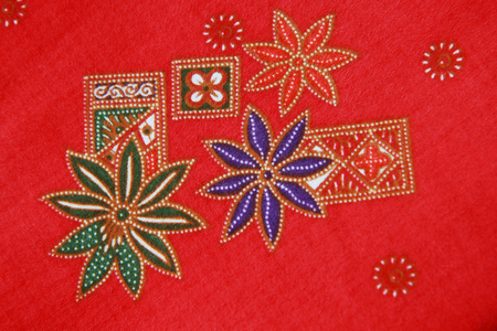 Pattern on cloth texture , general traditional Thailand style native  photo