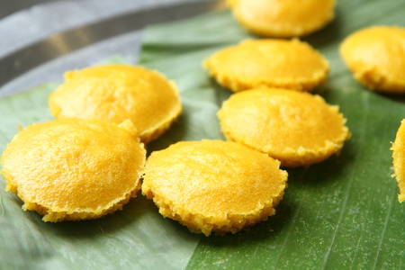 toddy palm: Thai desserts ,Toddy Palm Cake Stock Photo