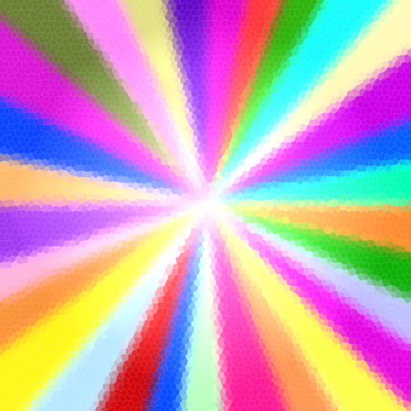 Colorful sun rays background Stock Photo