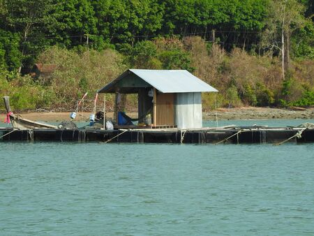 Fishing hut on the water, Thailand