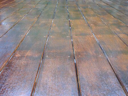 wooden structure floor