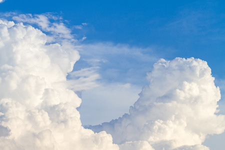 waft: Blue sky and big cloud background