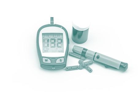 measured: blood glucose meter test kit, the blood sugar value is measured on a finger