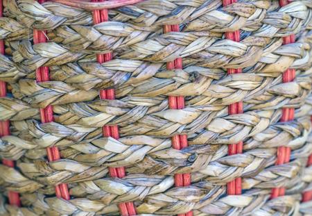 interlocking: Zigzag interlocking of Egyptian payrus leaves use for background Stock Photo
