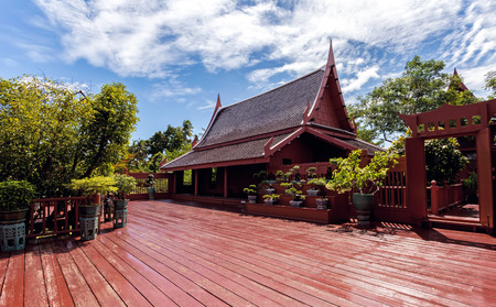 Home, Thai Style in King Rama 2 memorial park ,Samutsongkhram .Thailand