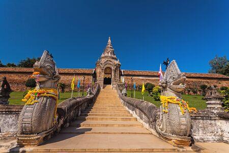 Wat Phra That Lampang Luang Lanna pagoda in Lampang ,Thailand. Banco de Imagens - 47804871