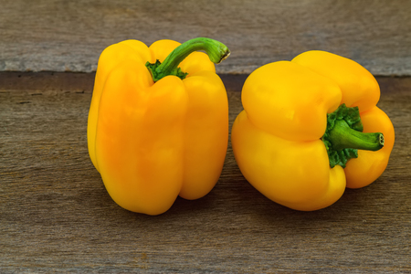 colorful still life: still - life concept colorful of fresh  sweet bell pepper capsicum   on wooden background