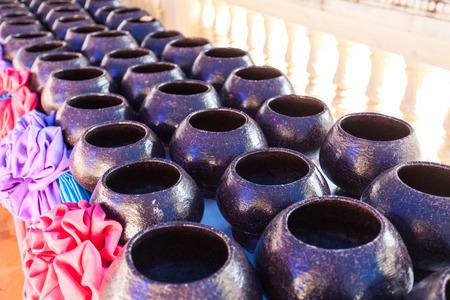monks: Stack of monks alms bowl
