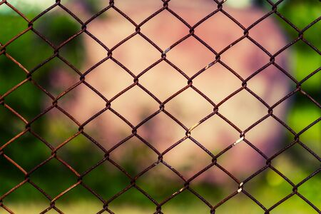 penal system: wire fence  background Stock Photo